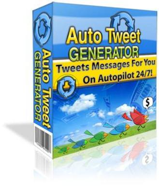 Product picture Auto Tweet Generator + Gift