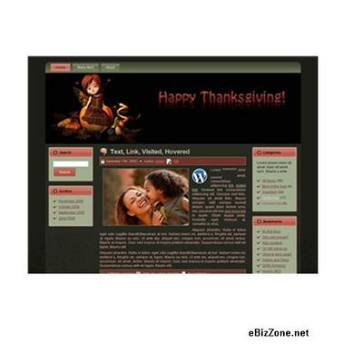 Product picture Autumn WordPress Theme + Gift